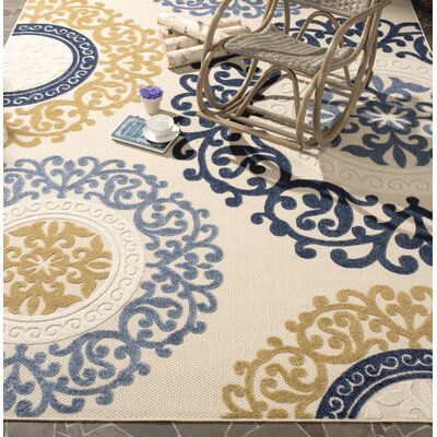 Felicita Outdoor Cream Area Rug