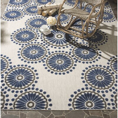 Timbia Cream/Blue Area Rug