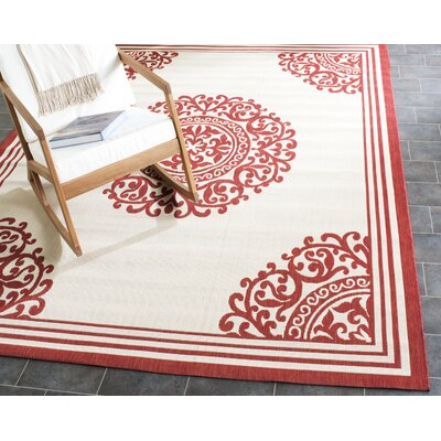 Calantha Beige/Red Area Rug
