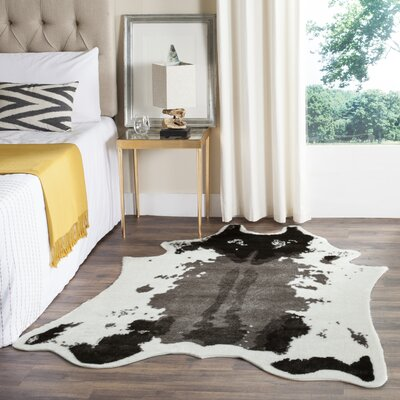 Gyula Hide Dark Gray Area Rug