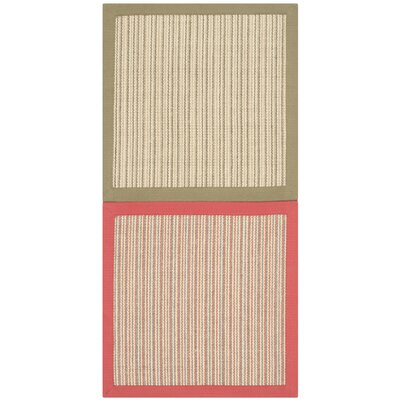 Ellery Assorted Beige/Pink/Green Area Rug