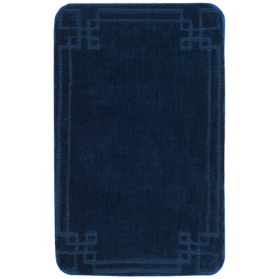 Ellie Bath Rug Color: Navy