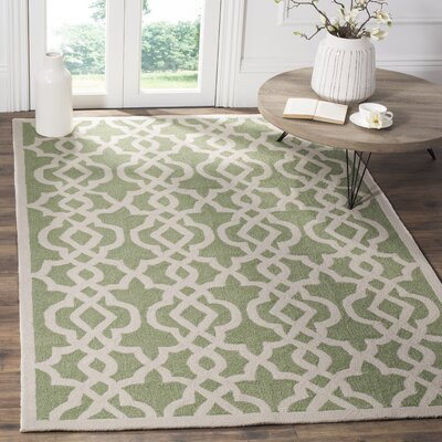 Daphne Outdoor Hand Tufted Light Green Area Rug Rug Size: Rectangle 5 x 8