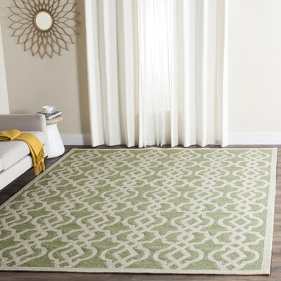 Daphne Outdoor Hand Tufted Light Green Area Rug Rug Size: Rectangle 9 x 12
