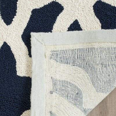 Daphne Outdoor Hand Tufted Navy Area Rug Rug Size: Rectangle 5 x 8