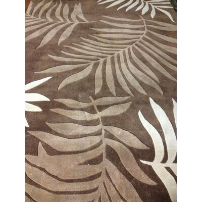 Gainesville Hand Tufted Brown Area Rug Rug Size: Rectangle 2 x 3