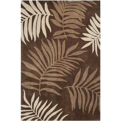 Gainesville Hand Tufted Brown Area Rug Rug Size: Rectangle 6 x 9