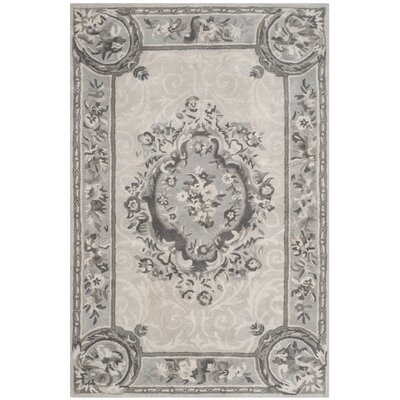 Muhammad Hand Tufted Wool Beige Area Rug Rug Size: Rectangle 4 x 6