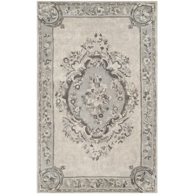 Muhammad Hand Tufted Wool Beige Area Rug Rug Size: Rectangle 5 x 8