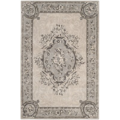 Muhammad Hand Tufted Wool Beige Area Rug Rug Size: Rectangle 6 x 9