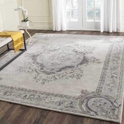 Muhammad Hand Tufted Wool Beige Area Rug Rug Size: Rectangle 76 x 96
