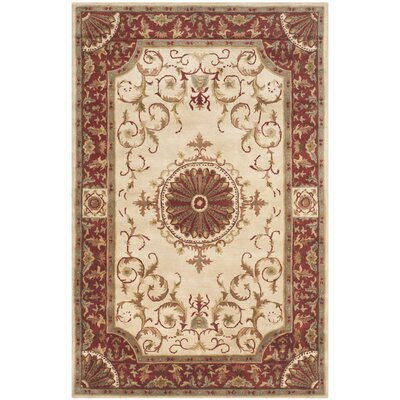 Latarra Hand Tufted Wool Ivory Area Rug Rug Size: Rectangle 96 x 136