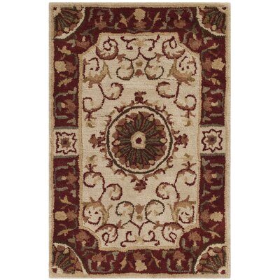 Latarra Hand Tufted Wool Ivory Area Rug Rug Size: Rectangle 2 x 3