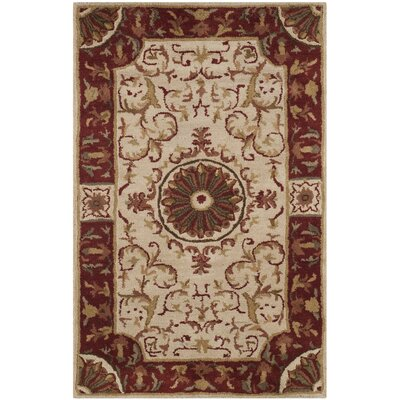 Latarra Hand Tufted Wool Ivory Area Rug Rug Size: Rectangle 26 x 4