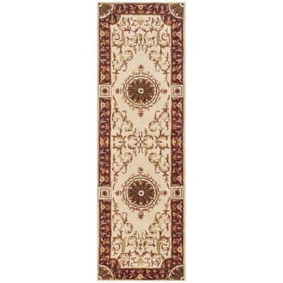 Latarra Hand Tufted Wool Ivory Area Rug Rug Size: Runner 26 x 8