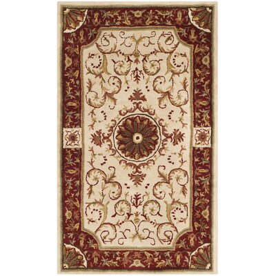 Latarra Hand Tufted Wool Ivory Area Rug Rug Size: Rectangle 3 x 5
