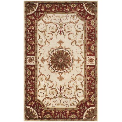 Latarra Hand Tufted Wool Ivory Area Rug Rug Size: Rectangle 4 x 6