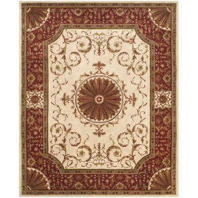 Latarra Hand Tufted Wool Ivory Area Rug Rug Size: Rectangle 76 x 96