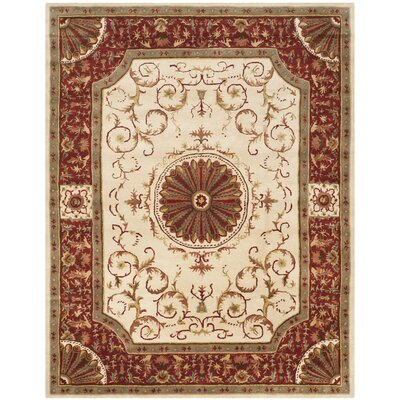 Latarra Hand Tufted Wool Ivory Area Rug Rug Size: Rectangle 83 x 11