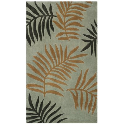 Gainesville Hand Tufted Black/Orange Area Rug Rug Size: Rectangle 3 x 5