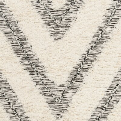 Wymore Hand Knotted Wool Black/Beige Area Rug Rug Size: Rectangle 4 x 6