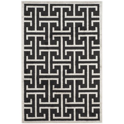 Fehi Black Area Rug Rug Size: Rectangle 4 x 6