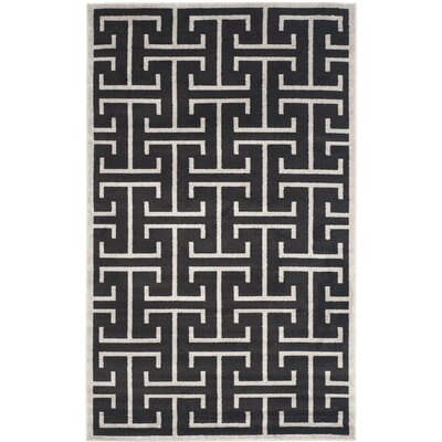Fehi Black Area Rug Rug Size: Rectangle 5 x 8