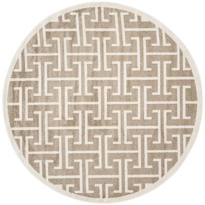 Fehi Wheat Area Rug Rug Size: Round 7