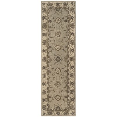 Caresse Hand Tufted Wool Beige Area Rug Rug Size: Runner 23 x 8