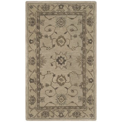 Caresse Hand Tufted Wool Beige Area Rug Rug Size: Rectangle 4 x 6