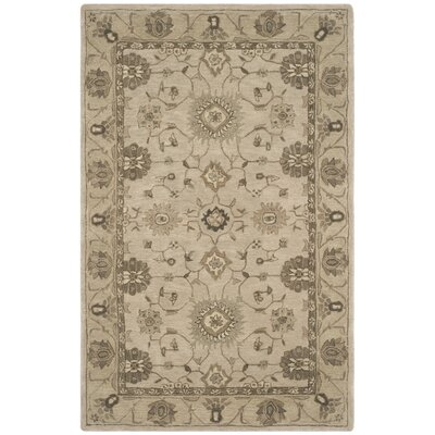 Caresse Hand Tufted Wool Beige Area Rug Rug Size: Rectangle 6 x 9