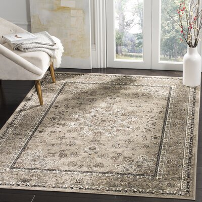 Carolus Traditional Beige Area Rug Rug Size: Rectangle 53 x 76