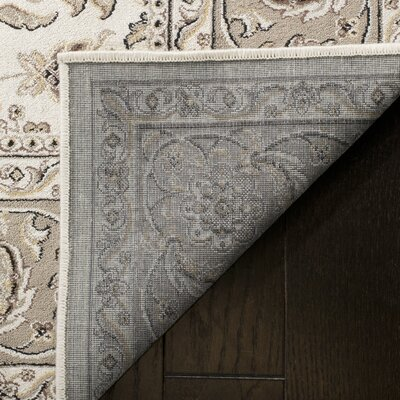 Carolus Rectangle Beige Area Rug Rug Size: Rectangle 22 x 37