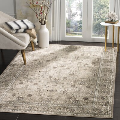 Carolus Traditional Rectangle Beige Area Rug Rug Size: Rectangle 22 x 37
