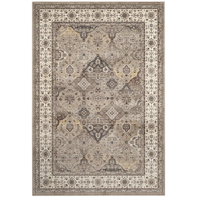 Carolus Beige Area Rug Rug Size: Rectangle 22 x 37