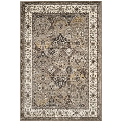 Carolus Beige Oriental Area Rug Rug Size: Rectangle 4 x 53
