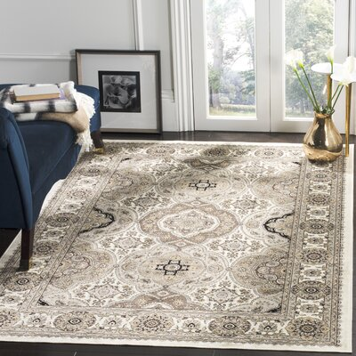 Carolus Beige Area Rug Rug Size: Rectangle 33 x 47