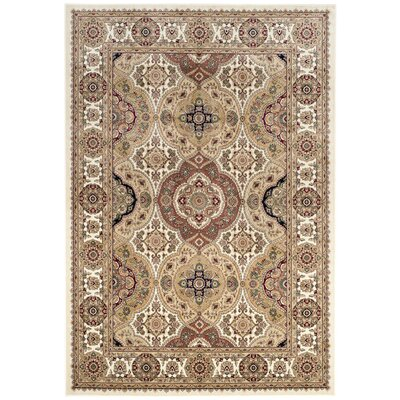 Carolus Rectangle Ivory Area Rug Rug Size: Rectangle 4 x 53
