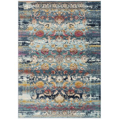 Tolleson Teal Area Rug Rug Size: Rectangle 51 x 76