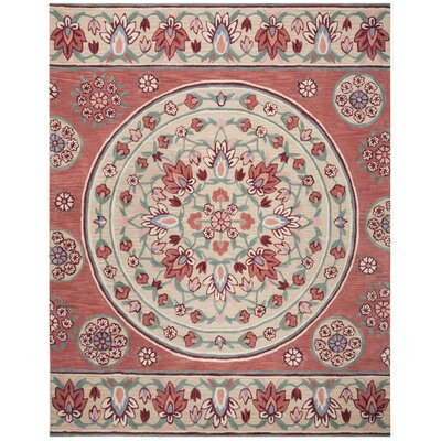 Eatonville Hand Tufted Wool Red Area Rug Rug Size: Rectangle 8 x 10