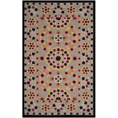 Eatonville Hand Tufted Wool Light Gray Area Rug Rug Size: Rectangle 5 x 8