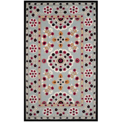 Eatonville Hand Tufted Wool Light Blue Area Rug Rug Size: Rectangle 3 x 5