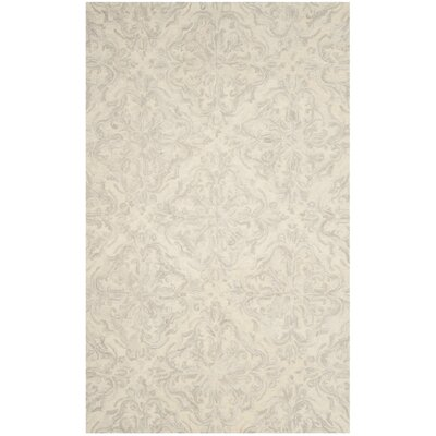 Burkhart Hand Tufted Wool Ivory Area Rug Rug Size: Rectangle 4 x 6