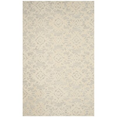 Bevis Hand Tufted Wool Gray Area Rug Rug Size: Rectangle 4 x 6