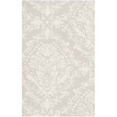 Bevis Rustic Hand Tufted Wool Light Gray Area Rug Rug Size: Square 6