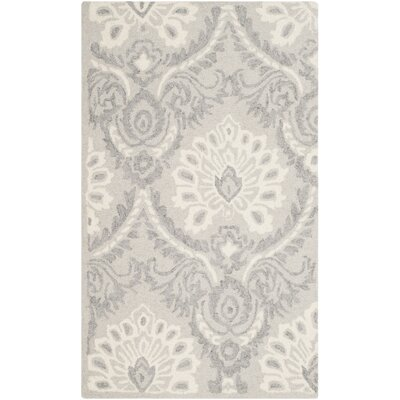 Bevis Hand Tufted Wool Light Gray Area Rug Rug Size: Rectangle 4 x 6