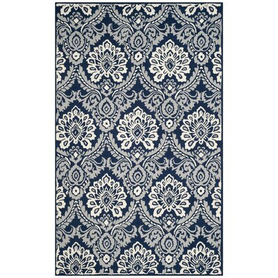 Bevis Hand Tufted Wool Navy Area Rug Rug Size: Rectangle 5 x 8