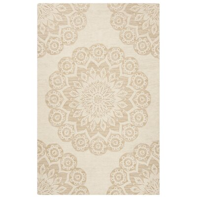 Jahiem Hand Tufted Wool Ivory Area Rug Rug Size: Rectangle 5 x 8