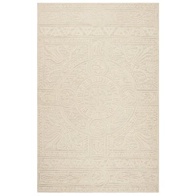 Jahiem Hand Tufted Wool Beige Area Rug Rug Size: Rectangle 5 x 8