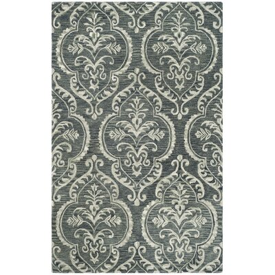 Bevis Hand Tufted Wool Blue Area Rug Rug Size: Square 6